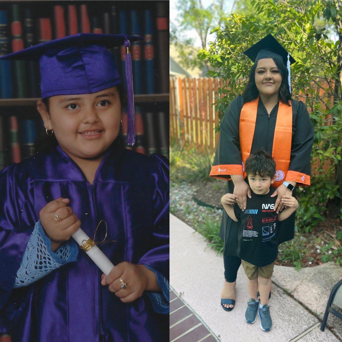 Lizeth Alvarez at her preschool graduation
