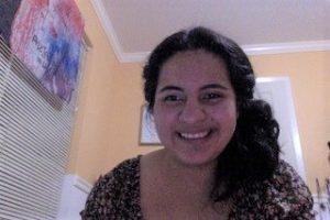 Female student scholar smiling