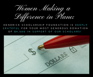 Image of pen writing on a check